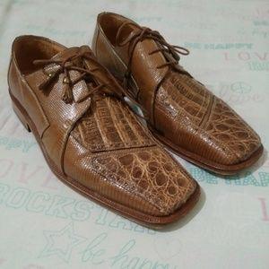Classy David Eden size 10 brown hand made shoe